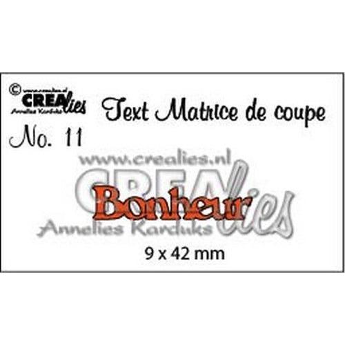 Crealies Tekststans (FR) nr 11 Bonheur CLTM11 9 x 42mm (04-19)