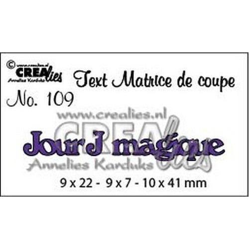 Crealies Tekststans (FR) Jour J magique CLTM109 9 x 22 - 9 x 7 - 10 x 41mm (04-19)