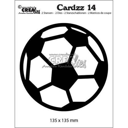 Crealies Cardzz no 14 Voetbal CLCZ14 135 x 135mm (04-19)