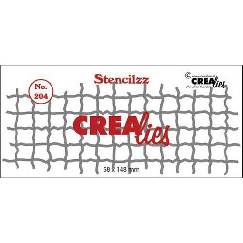 Crealies Stencilzz no. 204 mesh CLST204 58 x 148mm (04-19)