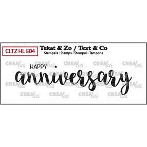 Crealies Clearstamp Tekst & Zo tekst Happy anniversary solid (Eng) CLTZHLE04 21 x 80mm (04-19)