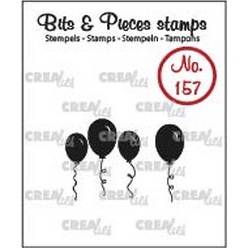 Crealies Clearstamp Bits & Pieces ballonnen (dicht) CLBP157 20 x 22 - 8 x 21mm (04-19)