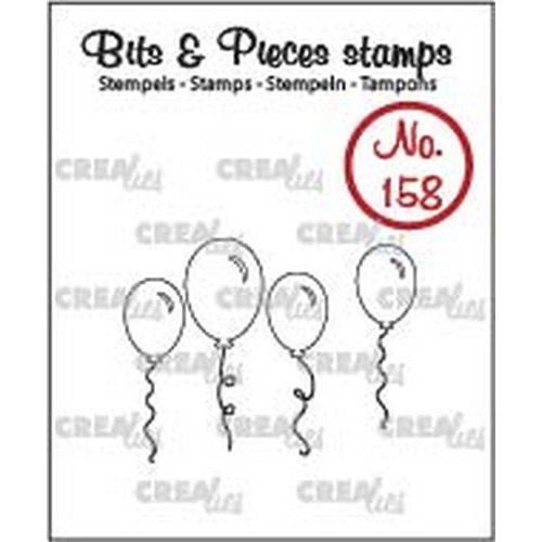 Crealies Clearstamp Bits & Pieces ballonnen (omlijning) CLBP158 25 x 28 - 7 x 23mm (04-19)