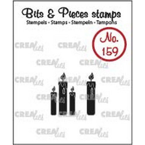 Crealies Clearstamp Bits & Pieces kaarsjes (dicht) CLBP159 12 x 20 - 4 x 20mm (04-19)