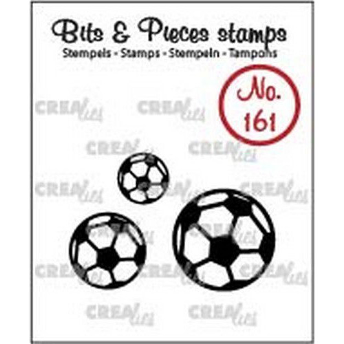 Crealies Clearstamp Bits & Pieces voetballen CLBP161 10 - 15 - 20mm (04-19)