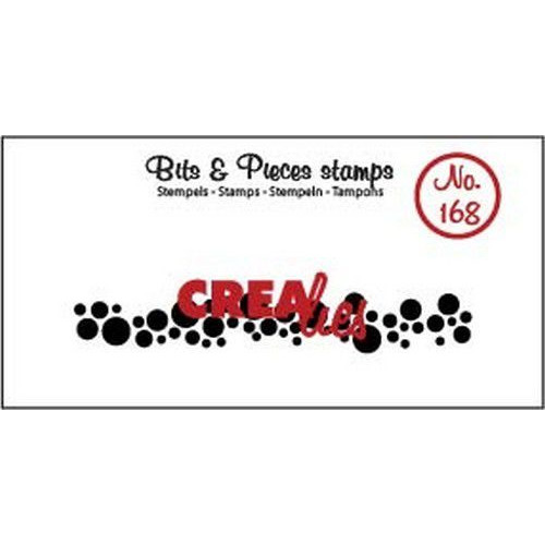 Crealies Clearstamp Bits & Pieces cirkels (langwerpig) CLBP168 11 x 73mm (04-19)