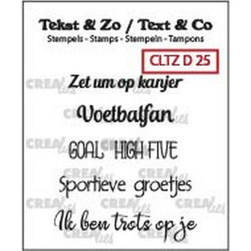 Crealies Clearstamp Tekst&Zo voetbal teksten (NL) CLTZD25 6x 38mm (04-19)
