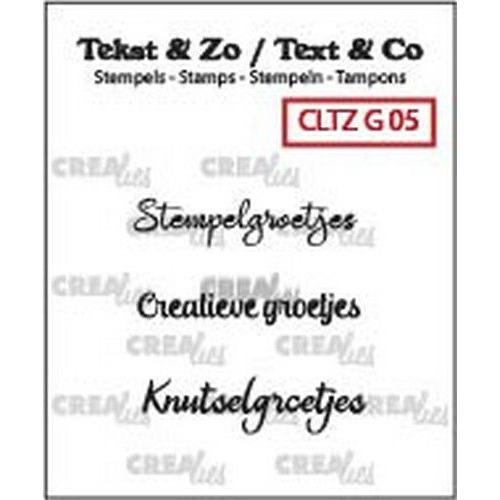 Crealies Clearstamp Tekst&Zo Groetjes 5 (NL) CLTZG05 3x max 31mm (04-19)