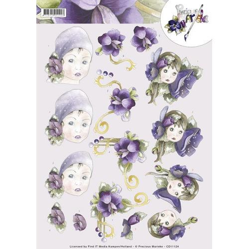 3D Knipvel -Precious Marieke -flower girls