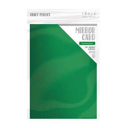 Tonic Studios spiegelkarton - mat - flourishing green 5 vl A4 9478E (04-19)