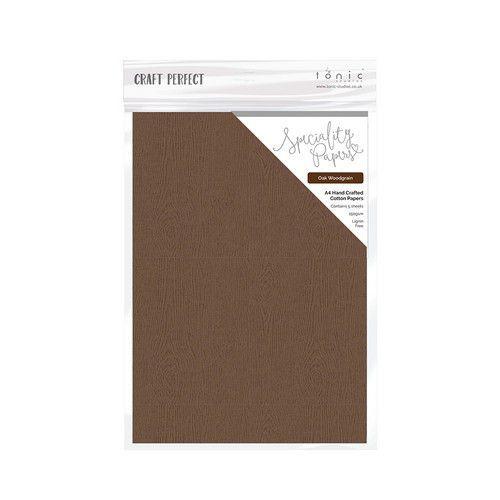 Tonic Studios handmade paper - Oak Woodgrain A4 5 vl 9883E (04-19)