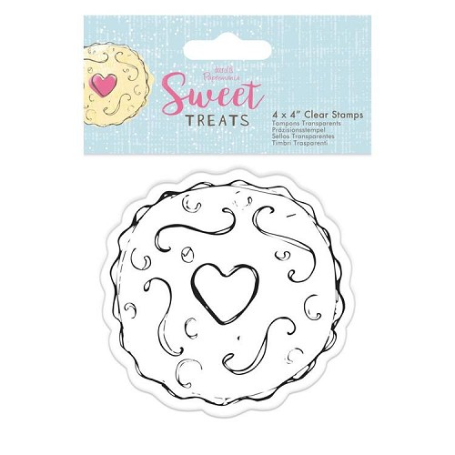 "4 x 4"" Clear Stamp - Sweet Treats - Jammy Dodger"
