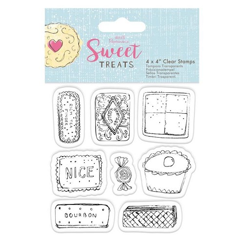 "4 x 4"" Clear Stamp - Sweet Treats - Biscuits & Cakes"