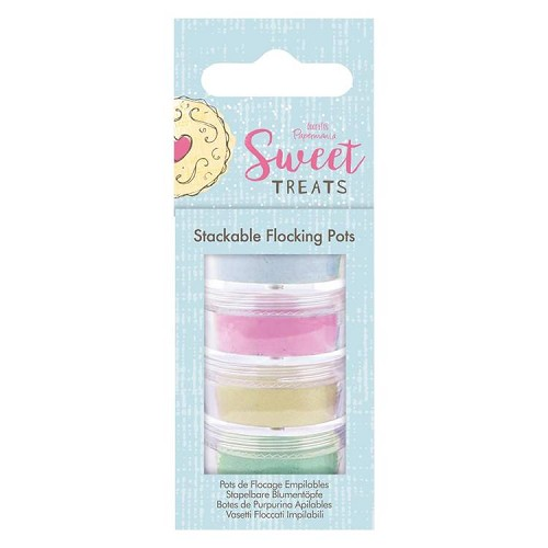 Stackable Flocking Pots (4pk) - Sweet Treats