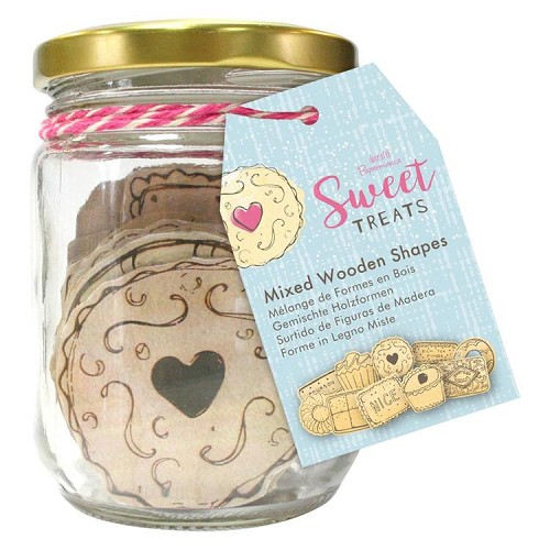 Wooden Shapes (20pcs) - Sweet Treats