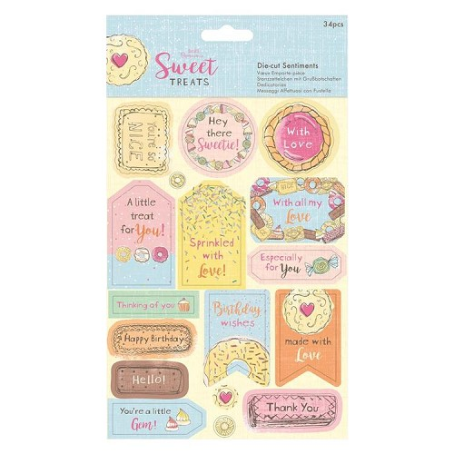 Die-cut Sentiments (34pcs) - Sweet Treats