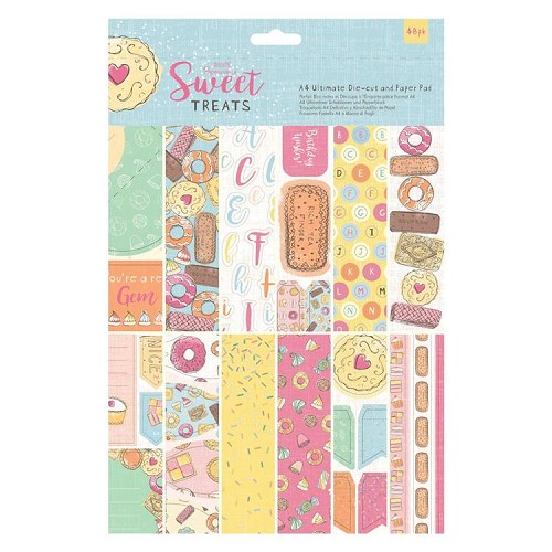 A4 Ultimate Die-cut & Paper Pad (48pk) - Sweet Treats