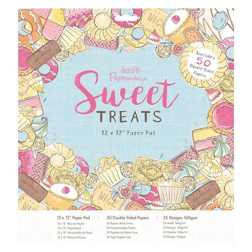 "12 x 12"" Paper Pad (50pk) - Sweet Treats"