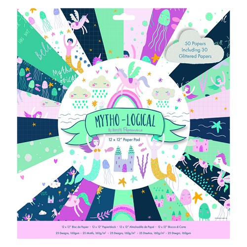 "12 x 12"" Paper Pad (50pk) - Mytho-Logical"