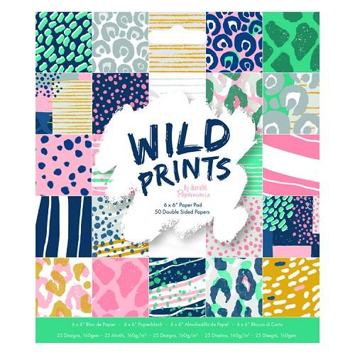 "6 x 6"" Paper Pad (50pk) - Wild Prints"