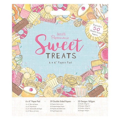 "6 x 6"" Paper Pad (50pk) - Sweet Treats"