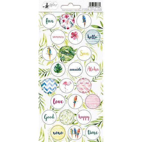 Piatek13 - Sticker sheet Let's flamingle 03 P13-280 10,5x23 cm (04-19)