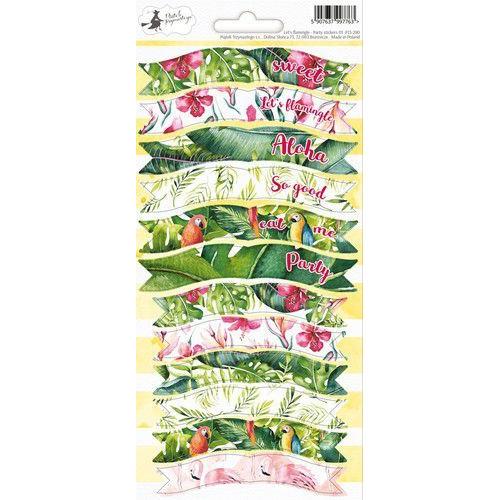 Piatek13 - Sticker sheet Party Let's flamingle 01 P13-290 10,5x23 cm (04-19)