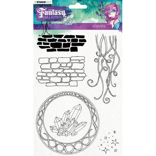 Studio Light Clearstempel A5 Element Fantasy Collection nr.377 STAMPFC377 (05-19)