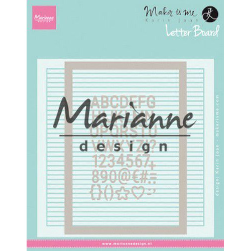 Marianne D Embossing folder Extra Karin Joan`s Letter Board DF3454 152x154 mm (06-19)