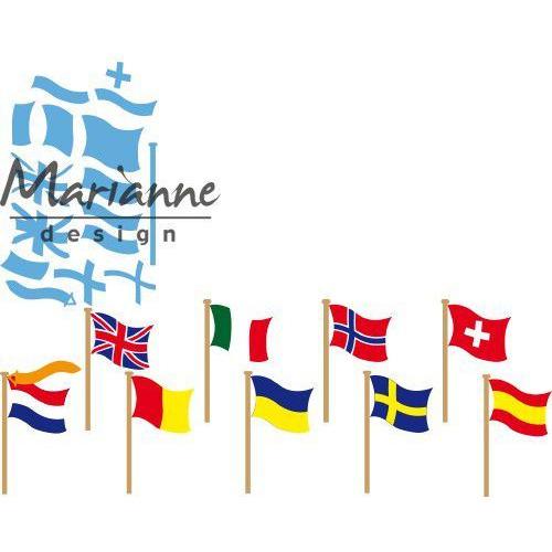Marianne D Creatable vlaggen LR0603 55x30 mm (06-19)