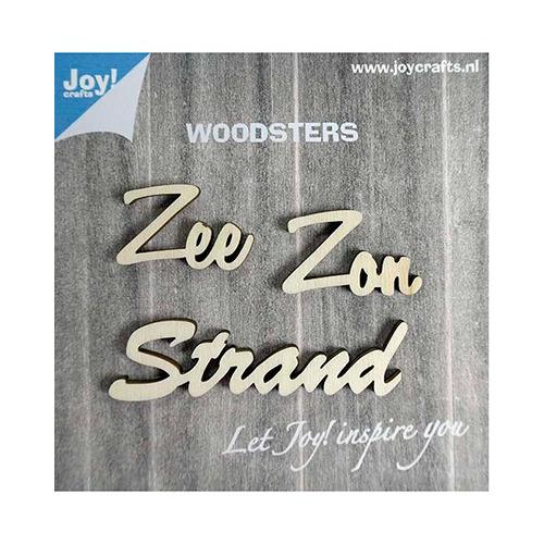 Woodsters Houten woorden - Zee - Zon -Strand