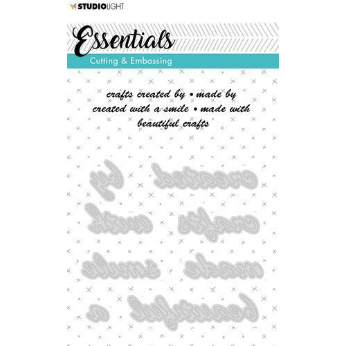 Studio Light Embossing Die Cut A6 Stencil Essentials nr.185 STENCILSL185 (06-19)