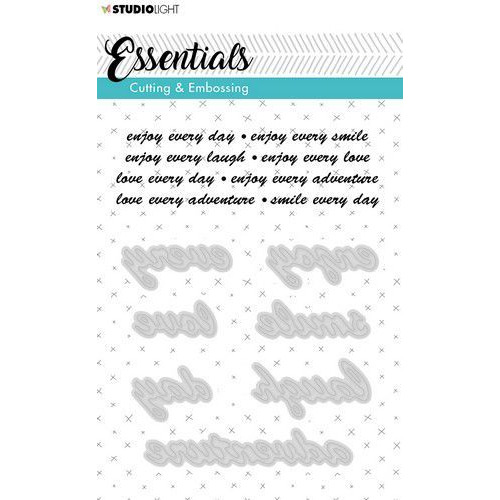 Studio Light Embossing Die Cut A6 Stencil Essentials nr.186 STENCILSL186 (06-19)