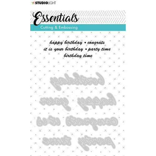 Studio Light Embossing Die Cut A6 Stencil Essentials nr.187 STENCILSL187 (06-19)