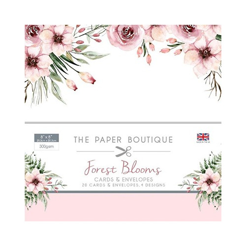 The Paper Boutique Forest Blooms Card & Envelope Pack