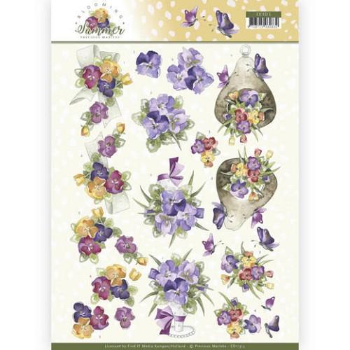 3D Knipvel - Precious Marieke - Blooming Summer - Summer Pansies