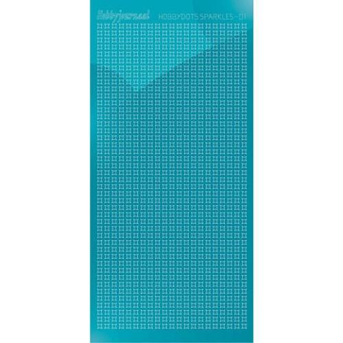 Hobbydots sticker Sparkles 01 Mirror Azure Blue