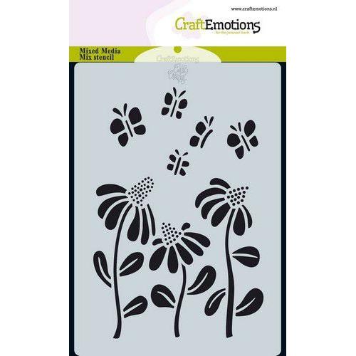 CraftEmotions Mask stencil Bugs - bloem A6 Carla Creaties (05-19)