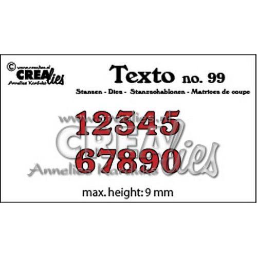 Crealies Texto  Stansen cijfers klein CLTX99 max. height: 9 mm (05-19)