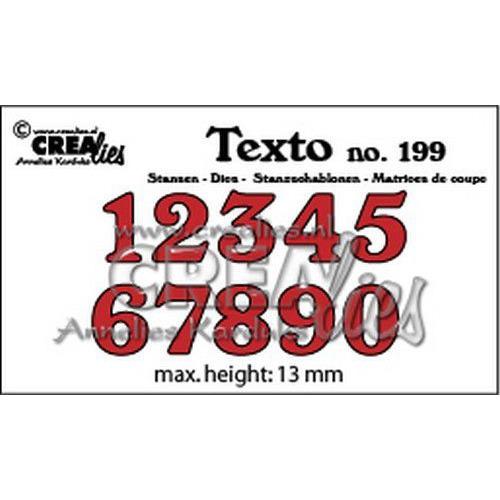 Crealies Texto  Stansen cijfers middel CLTX199 max. height: 13 mm (05-19)