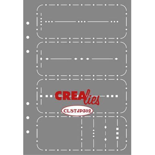 Crealies Journalzz & Pl Stencil Journaling Week Spread B CLSTJP302 14,5 x 20,8 cm (05-19)