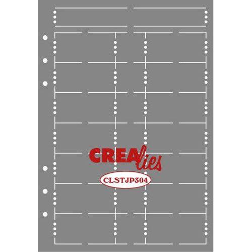 Crealies Journalzz & Pl Stencil Journaling Week Pagina B CLSTJP304 14,5 x 20,8 cm (05-19)