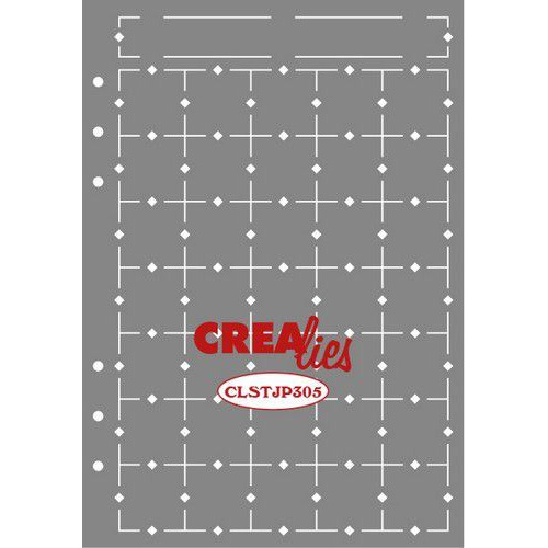 Crealies Journalzz & Pl Stencil Journaling Maand Pagina A CLSTJP305 14,5 x 20,8 cm (05-19)