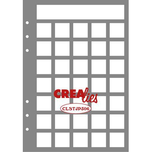 Crealies Journalzz & Pl Stencil Journaling Maand Pagina B CLSTJP306 14,5 x 20,8 cm (05-19)