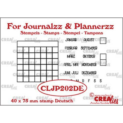 Crealies Journalzz & Pl Stempels maandtracker DE CLJP202DE 40 x 75 mm (05-19)