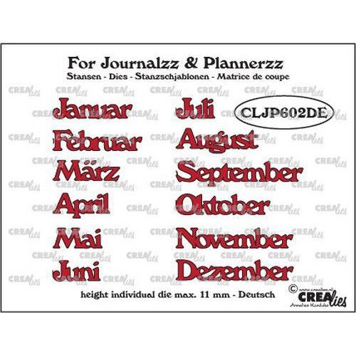 Crealies Journalzz & Pl Stansen maanden DE CLJP602DE max. height: 11 mm (05-19)