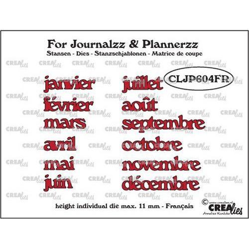 Crealies Journalzz & Pl Stansen maanden FR CLJP604FR max. height: 11 mm (05-19)