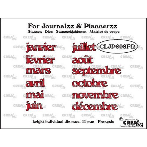 Crealies Journalzz & Pl Stansen weekdagen FR CLJP608FR max. height: 11 mm (05-19)