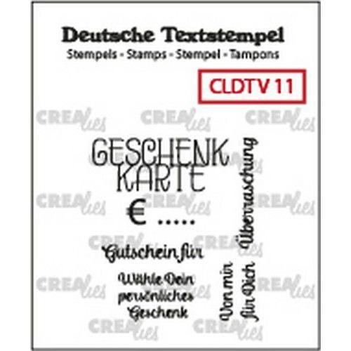 Crealies Clearstamp Tekst (DE) Geschenkkarte 11 CLDTV11 32 x 35 mm (05-19)