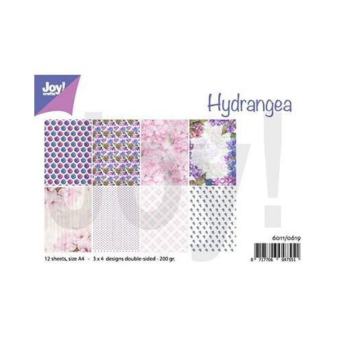 Papier Set A4 Design Hydrangea